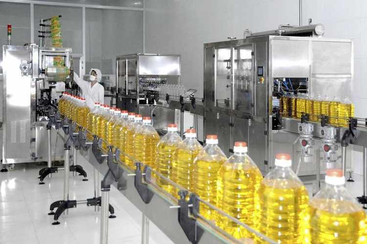 by sunflower oil